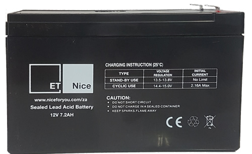 ET 12V 7.2Ah SLA Battery